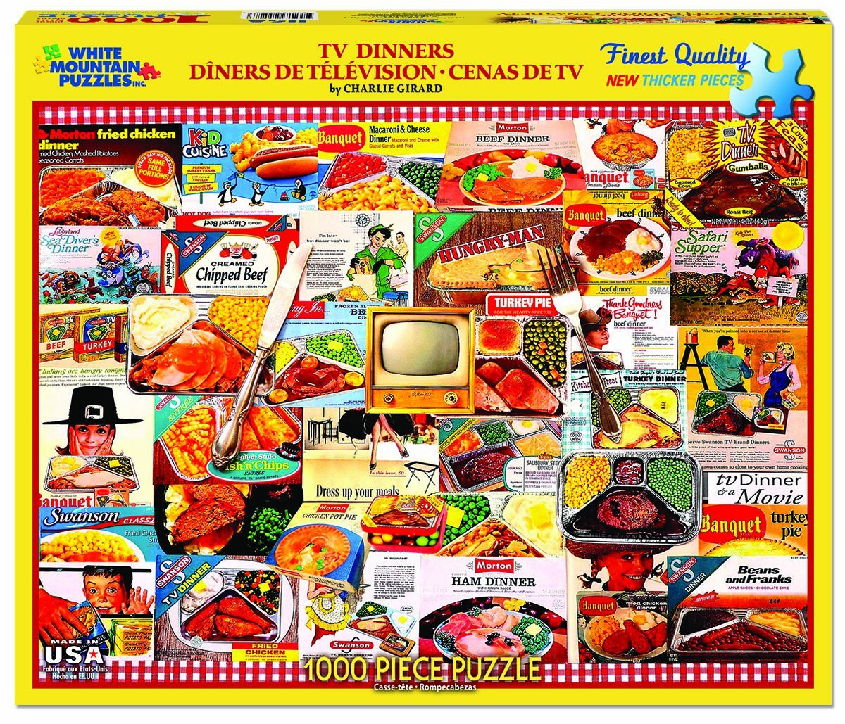 White Mountain Puzzles Tv Dinners Vintage Collage