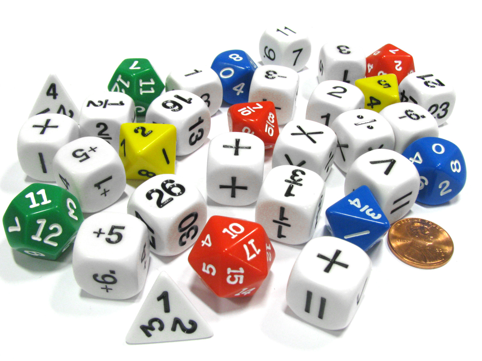 31 Piece Math Classroom Dice Set