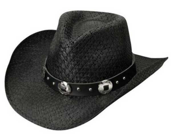 """Silverado """"jasper"""" Men' Toyo Straw Western Cowboy Hat"""