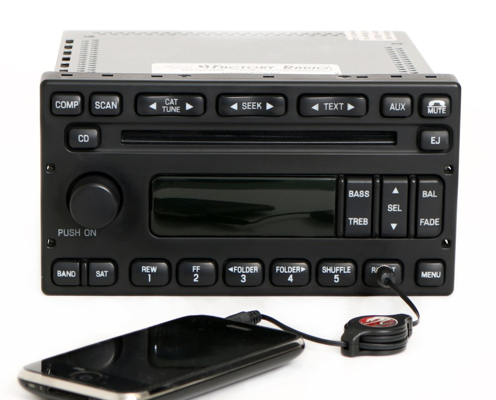 medium resolution of ford e150 e250 e350 van 2005 07 radio am fm cd w auxiliary input 6c2t 18c869 ab 1 factory radio