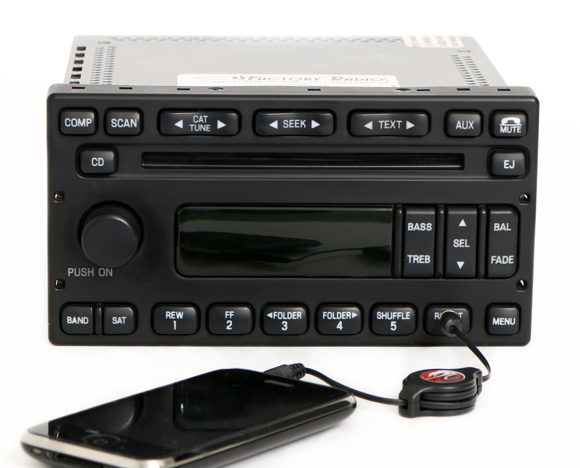 hight resolution of ford e150 e250 e350 van 2005 07 radio am fm cd w auxiliary input 6c2t 18c869 ab 1 factory radio