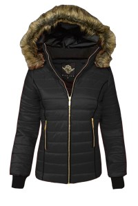 Puffer Jacket With Fur Hood | Jackets Review