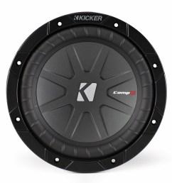 kicker compr 8 inch 2 ohm subwoofer 40cwr82 [ 1080 x 1080 Pixel ]