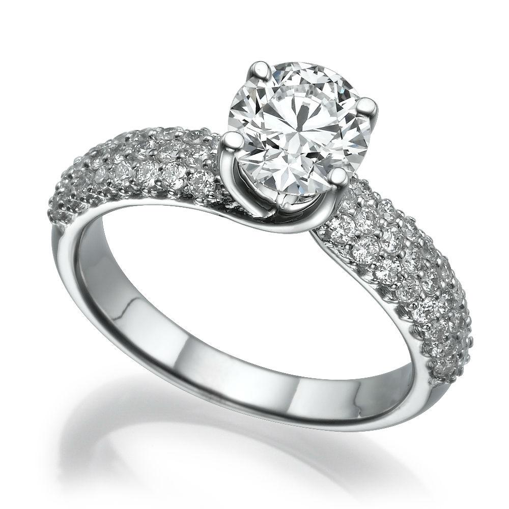 ACCENTS 153 CT 18 KARAT WHITE GOLD DIAMOND RING 4 PRONG VVS2 SIZE 65 8 9  eBay