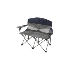 Double Seat Folding Chair Stool Plastic Stansport G 480 Apex Bag Navy Gray