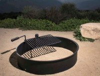 "36"" Steel Fire Ring with Cooking Grate Campfire Pit Park"