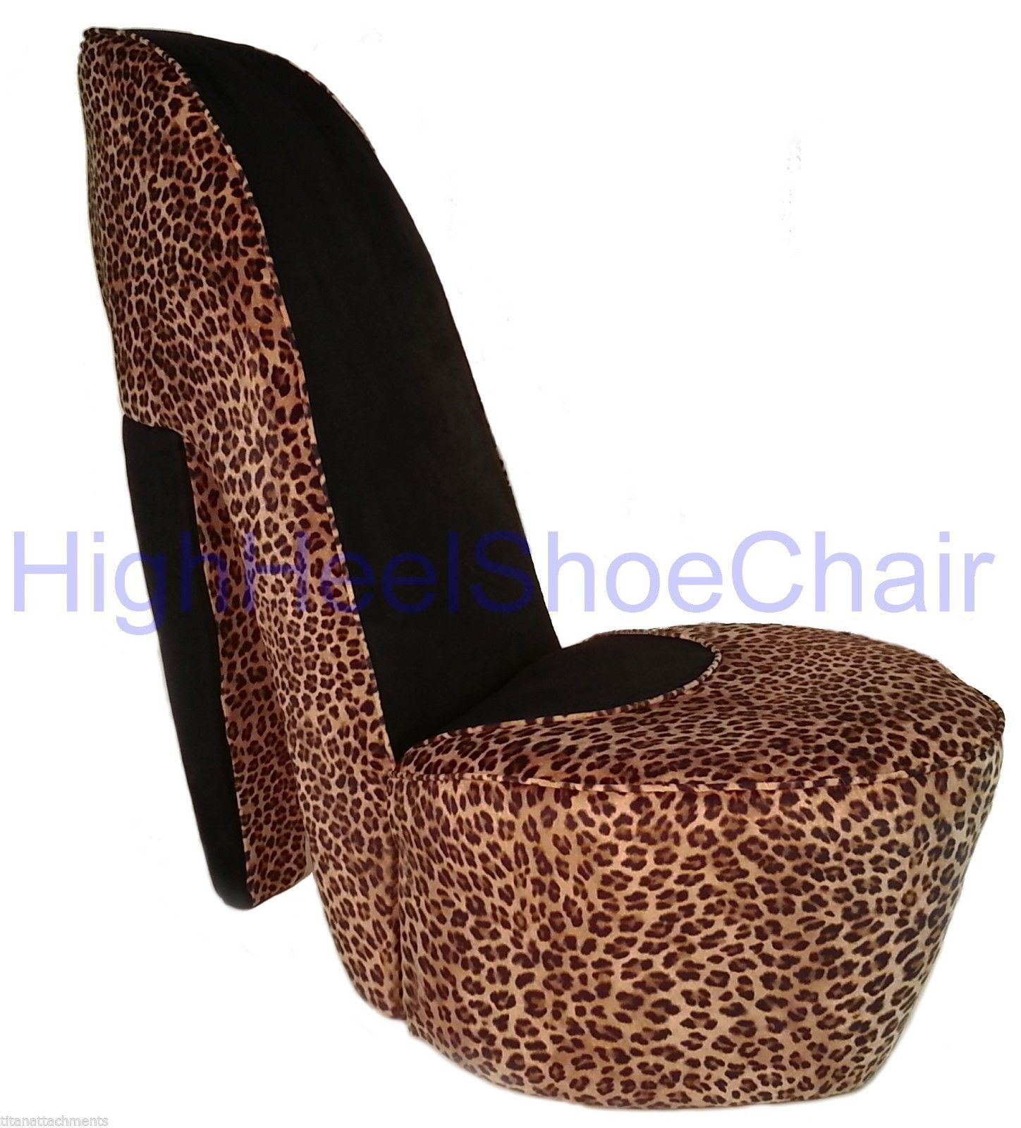 shoe shaped chair french country farmhouse table and chairs full size leopard high heel diva shoechair
