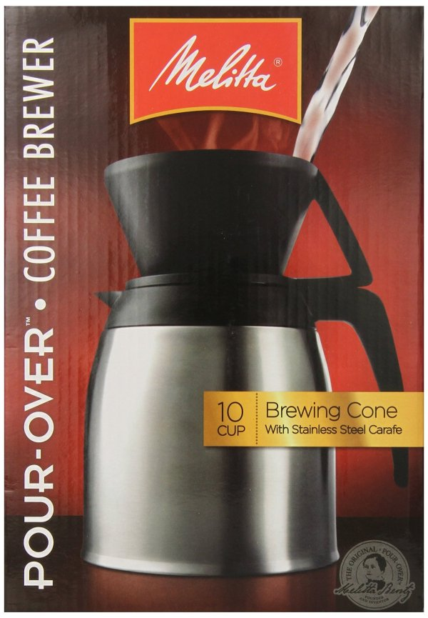 Melitta Stainless Steel Pour-over Thermal Carafe 64104