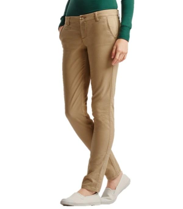 Aeropostale Womens Khaki Pants Chinos Skinny School Uniform Twill Cotton