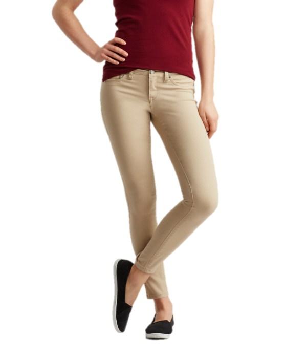 Aeropostale Womens Khaki Pants Chinos Jegging School