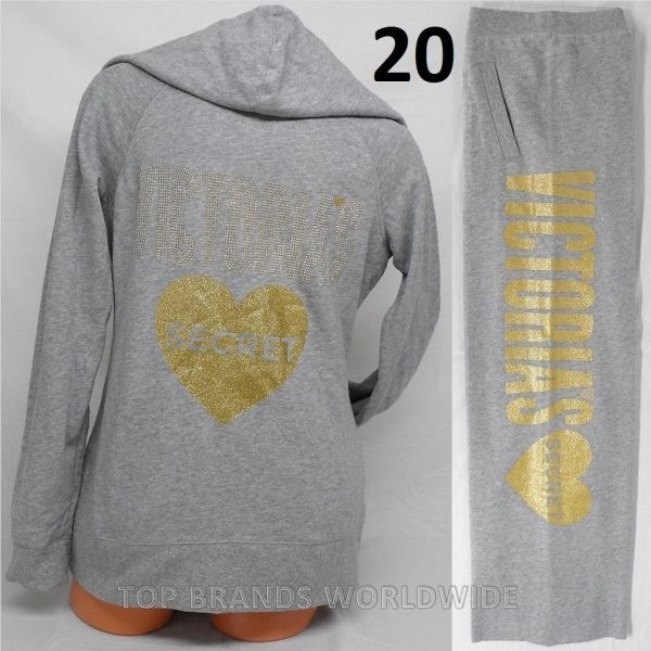 Victoria Secret Bling Hoodie & Sweat Pants Set Supermodel