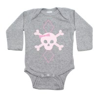 Crazy Baby Clothing Pink Argyle Girls Punk Rock Skull ...