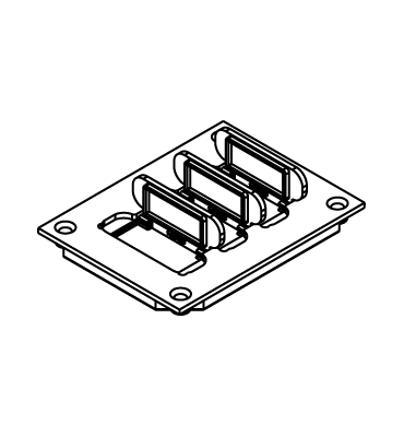 WIREMOLD 829PFL-BRN Floor Box Flip-Lid Cover Plate, Brown