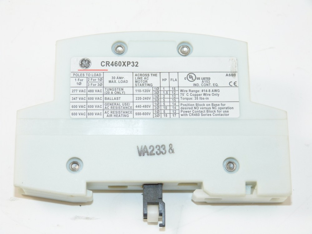 medium resolution of ge cr460xp32 power pole 2 pole for lighting contactor ebay 3 pole contactor wiring diagram 2 pole lighting contactor wiring diagram