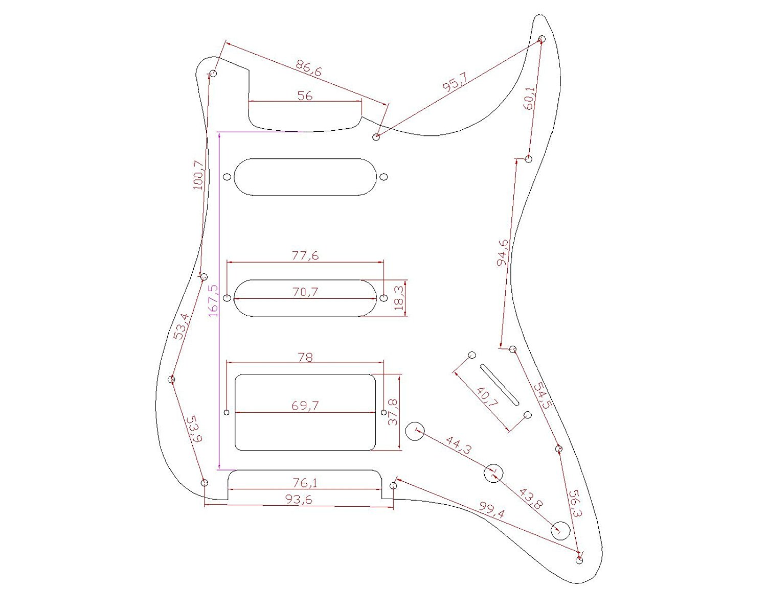 Stratocaster Pickguard For Fender US/Mexico Strat Electric