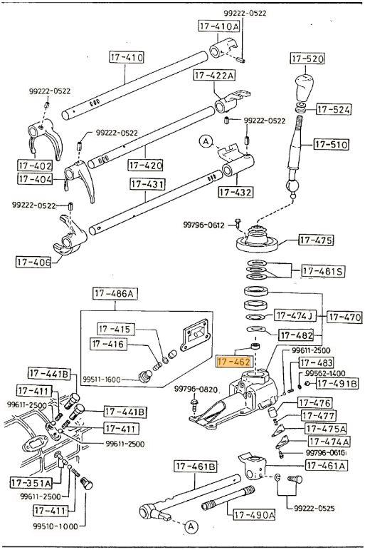 New Genuine Mazda MX-5 RX-7 RX8 Bravo BT-50 Gear Shift