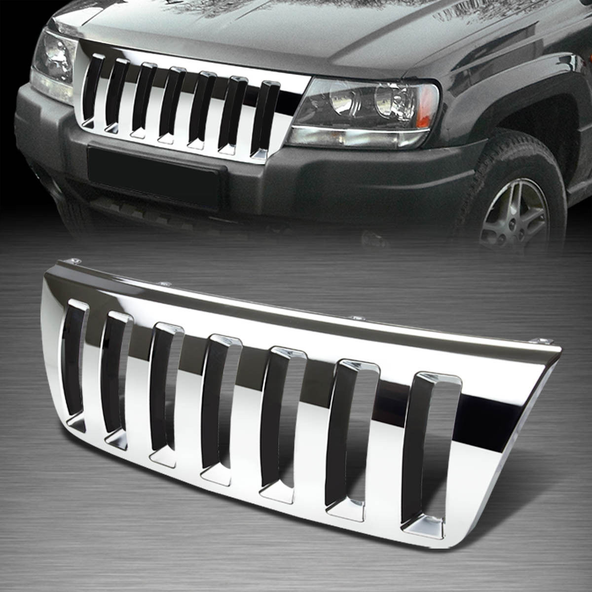 hight resolution of  jeep xj custom grill for 99 04 jeep grand cherokee wj abs plastic chrome