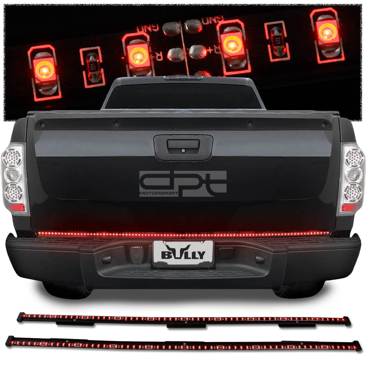 firestorm led tailgate light bar 2001 ford taurus firing order diagram 60 quot cut to fit fire strip red truck