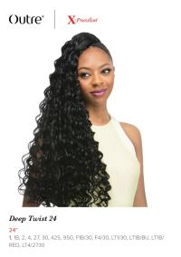 "DEEP TWIST 24"" BRAID - OUTRE X-PRESSION SYNTHETIC CROCHET ..."