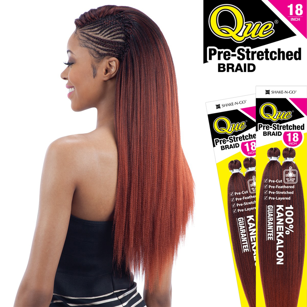 PRE STRETCHED BRAID 18 QUE SYNTHETIC 100 KANEKALON