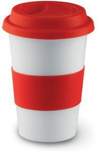 BN CERAMIC TAKE AWAY TRAVEL MUG - COFFEE /TEA Silicone Lid ...
