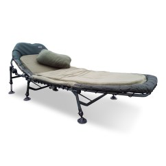 Memory Foam Chair Bed Uk Curved Lounge Plans Cyprinus Tilt Carp Fishing 6 Leg Bedchair