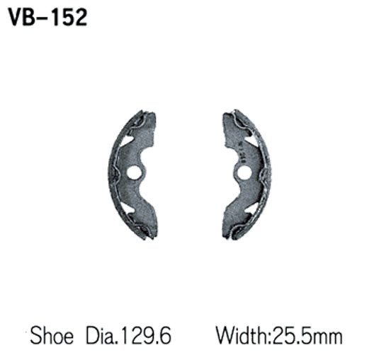 1997-2001 Honda TRX250 Recon ATV Vesrah Brake Shoes [Front