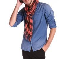 New Mens Scarfs genuine long classic fashion cotton neck ...