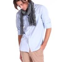 New Mens Scarfs genuine long classic fashion cotton neck