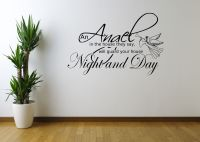 ANGEL NIGHT HOME QUOTE ART WALL STICKER DECAL MURAL ...