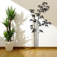 BAMBOO TREE GRASS WILD JUNGLE WALL STICKER DECAL MURAL ...