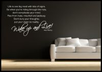 Bob Marley Quote Wall Sticker Bedroom Room Decal Mural ...