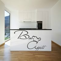 Bon Appetit Wall Art Sticker KItchen Vinyl Quote Decal ...