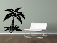 Coconut Palm Tree Wall Sticker Decal Mural Transfer ...