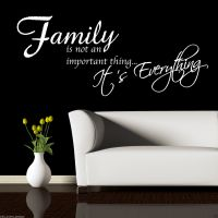 FAMILY IS EVERYTHING Wall Sticker Quote Room Decal Mural ...
