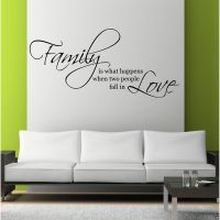 Family Love Wall Art Sticker Quote Living Room Decal Mural