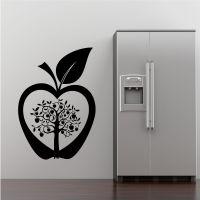Kitchen Apple Tree Flower Modern Wall Art Sticker Decal ...
