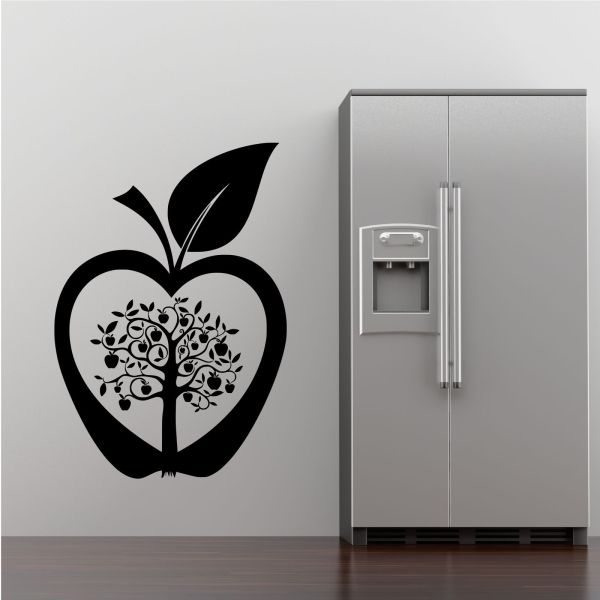 Kitchen Apple Tree Flower Modern Wall Art Sticker Decal