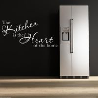 KITCHEN HEART Wall Art Sticker Lounge Room Quote Decal