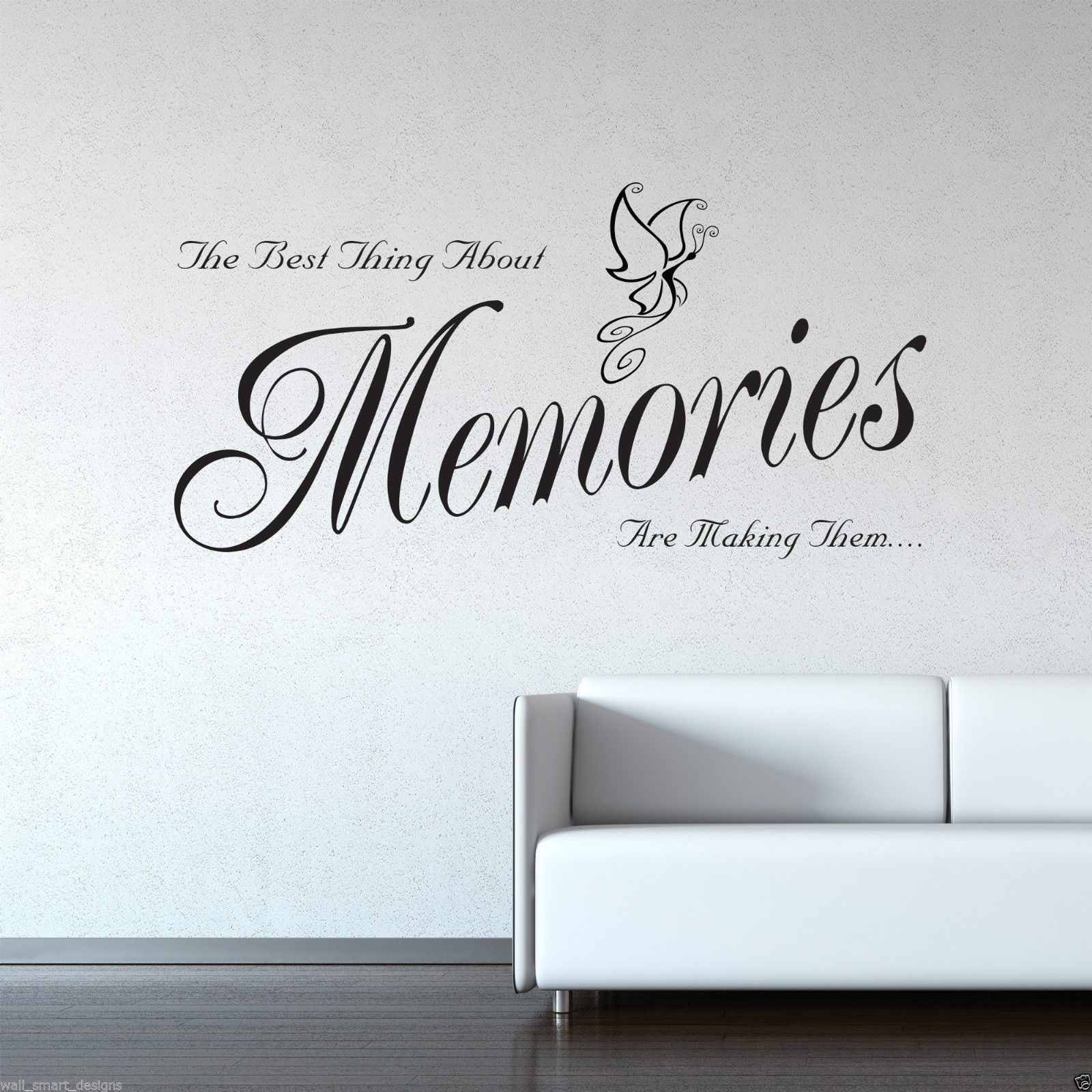 Memories Wall Art Sticker Lounge Room Quote Decal Mural