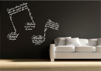 Music Note Symbols Wall Art Sticker Quote Decal Transfer
