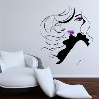 Pin Up Girl Women Modern Hair Salon Wall Sticker Decal