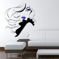 Pin Up Girl Women Modern Hair Salon Wall Sticker Decal ...