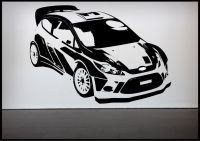 Rally Car Racing Car Wall Sticker Bedroom Decal Mural Wall ...