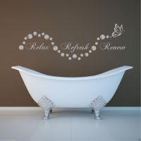 Relax bathroom Bubbles En Suite Wall Art Sticker Quote ...