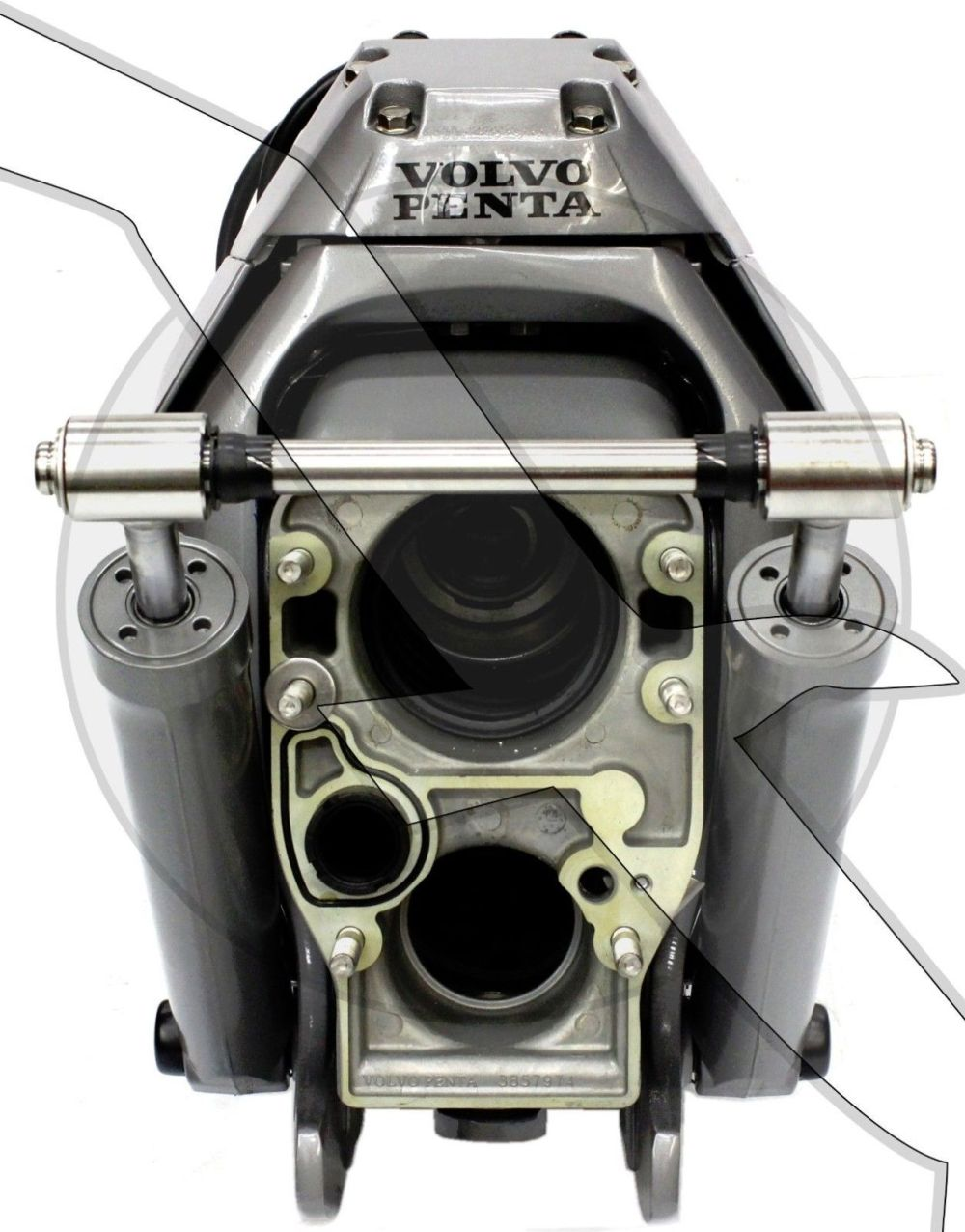 medium resolution of image is loading volvo penta sx mhp transom assembly complete inner
