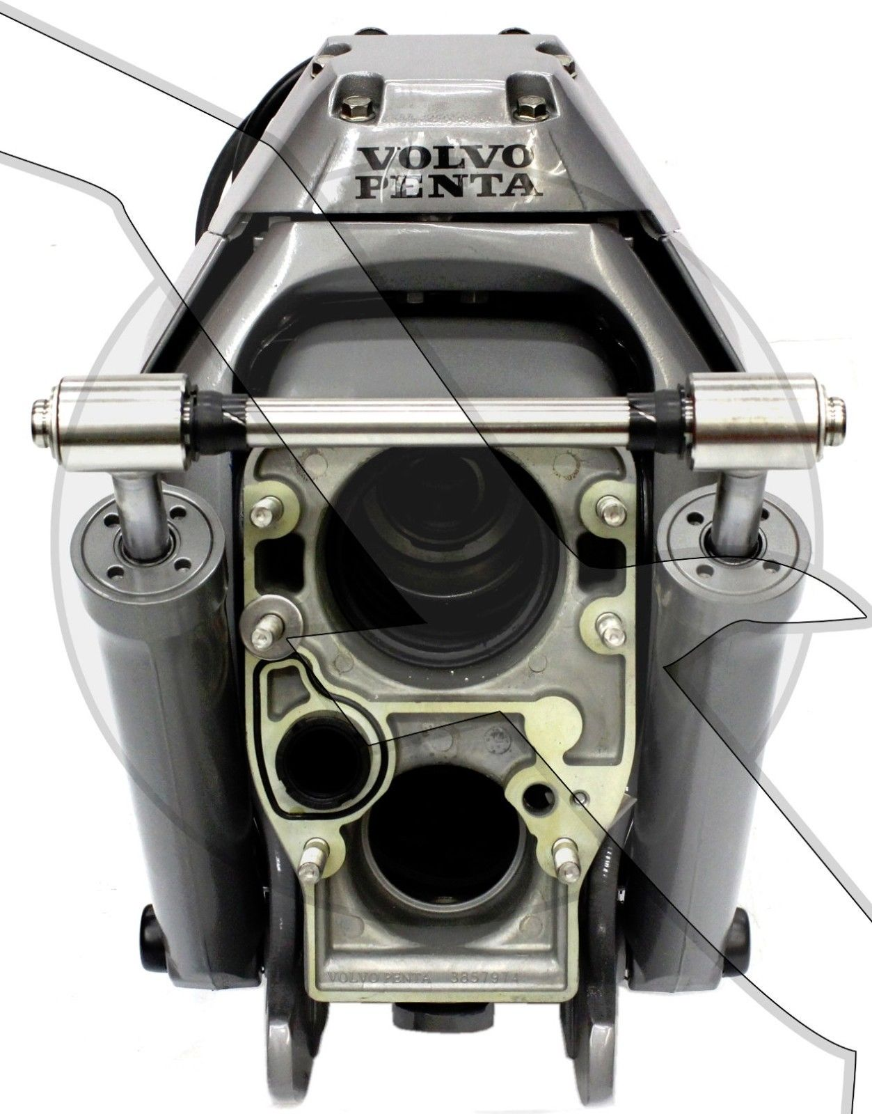 hight resolution of image is loading volvo penta sx mhp transom assembly complete inner