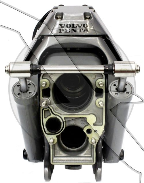 small resolution of image is loading volvo penta sx mhp transom assembly complete inner