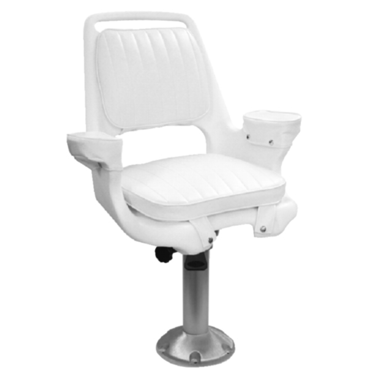 "15"" Fixed Height Fishing Boat Captains Pilot Chair Seat"