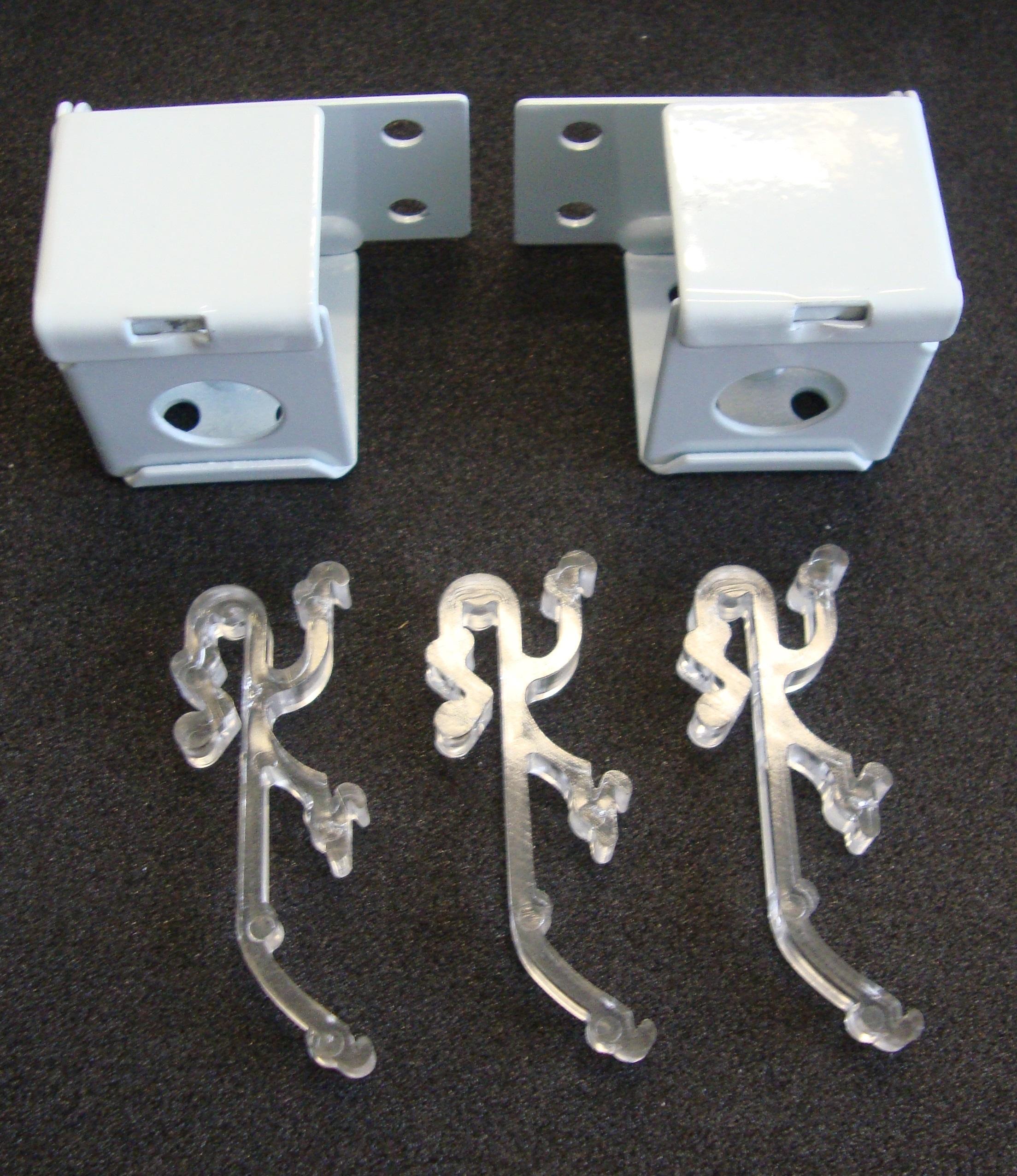 2 Qty 1 Mini Blind Mounting Kits Metal Brackets Double